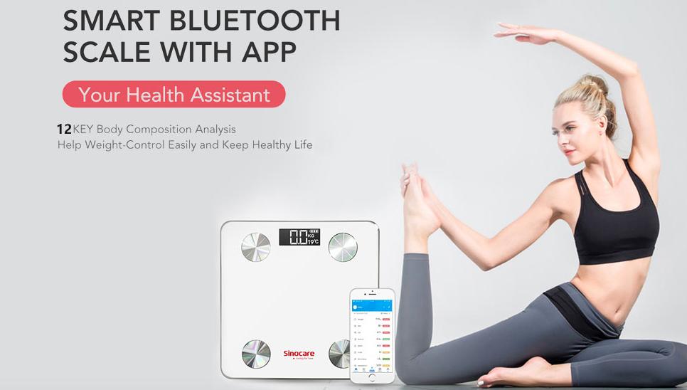 Basculas Digitales Inteligente Sinocare Bluetooth