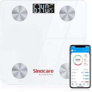 Sinocare Básculas Digitales, Báscula Baño Digital Bluetooth Inteligente