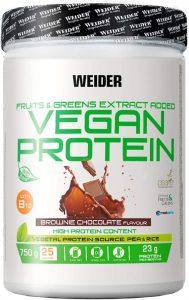 Weider Vegan Protein, Sabor Chocolate, Proteína 100% vegetal de guisantes